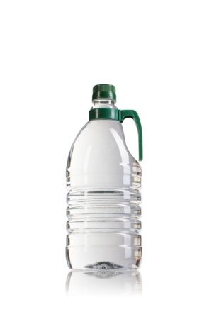 Botella PET 2000ML con asa verde boca 36/29