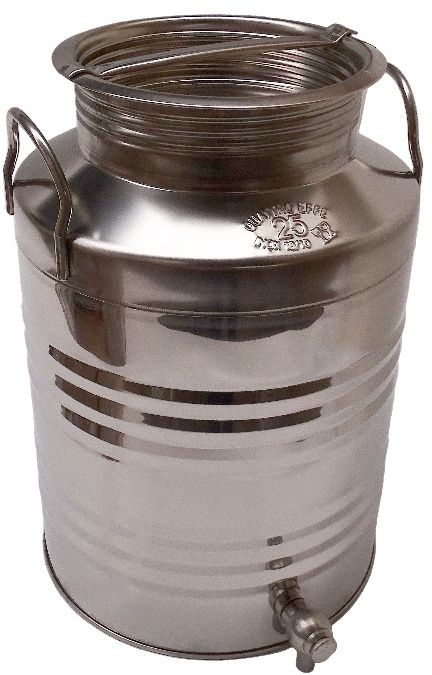 25 liters stainless steel tank