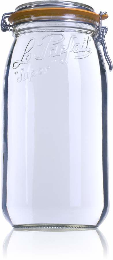Airtight glass jar Le Parfait Super 3000 ml-3000ml-BocaLPS-100mm